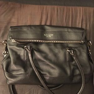 Authentic Kate Spade foldover top purse